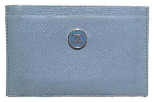Chanel Chanel Blue Leather Credit Card ID Wallet