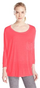 Calvin Klein Calvin Klein Performance 3/4 Sleeve Icy Wash Top Neon Pink, M
