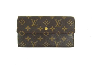 Louis Vuitton International Monogram Canvas Leather Long Clutch Wallet France