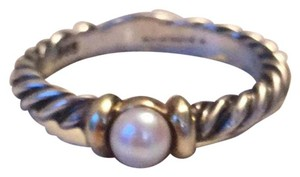 David Yurman SALE Pearl and Gold Cable Ring