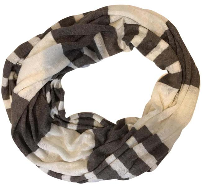 Item - White and Gray Infinity Scarf/Wrap