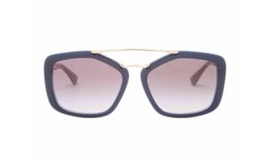 Prada NEW Cinema Modified Aviator Sunglasses Azure/Gray/Gold SPR24R-F UEE3E2