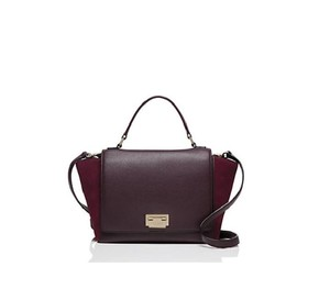Kate Spade Handbag Coach 71877 Coach Crossbody Messenger Satchel in aubergine red and gold tone