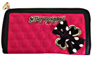 Betsey Johnson Red / Black Clutch