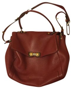 Marc by Marc Jacobs Leather Crossbody Satchel in Burgundy