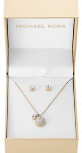 Michael Kors Michael Kors Brilliance Pave Pendant and Earrings Set