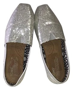 Other Toms Glitter Brand New Silver Flats