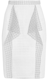3.1 Phillip Lim Eyelet Pencil Ruffle Skirt White