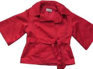 Victor Costa Satin Lined Jacket Red Blazer