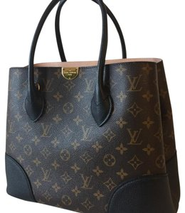 Louis Vuitton Tote in black/ dark brown/ monogram
