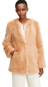 Ann Taylor Fur Faux Fur Winter Jacket Fur Coat
