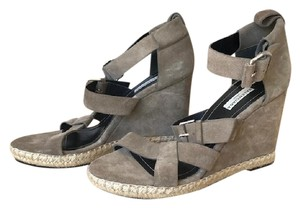 Balenciaga Suede Sandals Taupe Wedges
