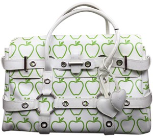 Luella Satchel in White & Green