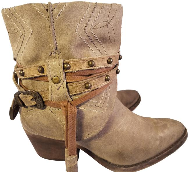 Item - Beige Harness Ankle Distressed Suede Boots/Booties Size US 6 Regular (M, B)