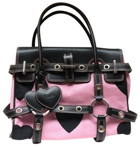 Luella Satchel in Black & Pink