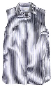 J.Crew Button Down Shirt blue & white