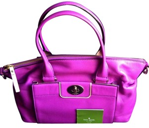 Kate Spade Very Stylish Leather Satchel in Bright Pink