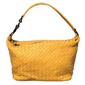 Bottega Veneta Leather Satchel in yellow