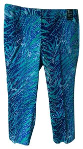 New York & Company Capris Blue