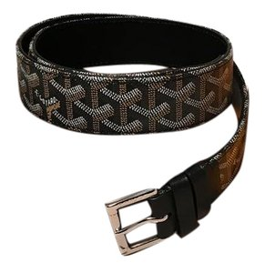 Goyard Goyard Black Canvas Monogram 100cm Belt