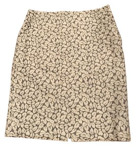 J.Crew Leaf Pencil Skirt Beige, Gray