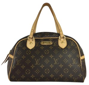 Louis Vuitton Monogram Montorgueil Pm Satchel in Brown