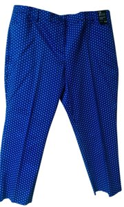 New York & Company Capris blue/white dots