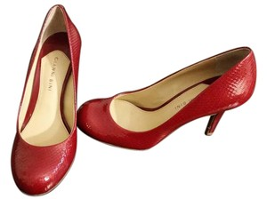 Gianni Bini Classy Fun Snakeskin Red Pumps