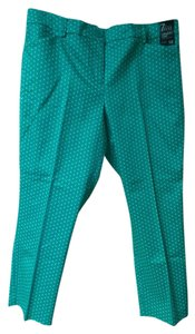 New York & Company Capris mint green/white dots