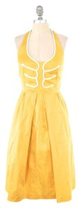 Anthropologie short dress Yellow Retro-fit Applique Summer on Tradesy