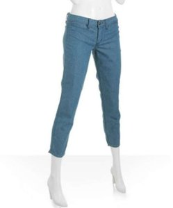 Habitual Capri Aqua Blue Iron Cross Aqua Grace Capri/Cropped Denim-Medium Wash