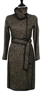 Carolina Herrera Tweed Wool Belted Unlined Trench Coat