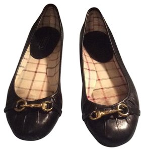Coach black/ Gold Flats