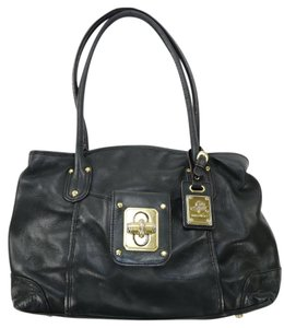 B. Makowsky Tote Leather Satchel in Black