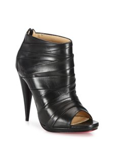 Christian Louboutin Drapiccone Draped Cone Heel Black Boots