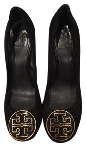 Tory Burch Chunky Heel Work Heels Black Pumps