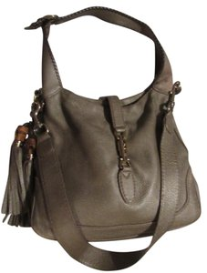 Gucci Jackie O Piston Closure High-end Bohemian Removable Strap Excellent Vintage Hobo Bag