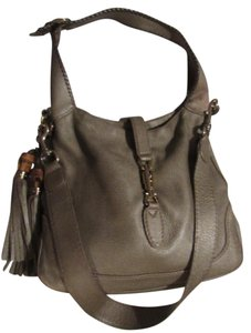 Gucci Removable Strap Two-way Style Xl Jackie Gold Piston Closure Hobo Bag