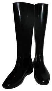 Fendi Rain Waterproof Rubber Rain Black Boots