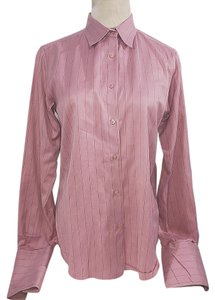 Thomas Pink Button Down Shirt pink black
