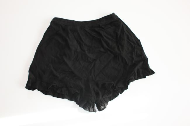 Finders Keepers Ruffle Mini/Short Shorts Black