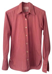 Thomas Pink Button Down Shirt red and white gingham