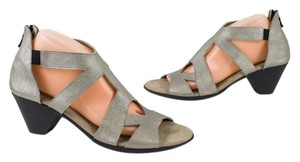 Arche Metallic Leather Silver Sandals
