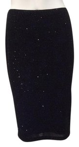 Zara Sparkle Bling Cocktails Formal Skirt Black