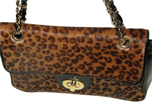 Paradox Calf Hair Leopard Print Pony Hair Animal Print Exotic Leather Shoulder Bag