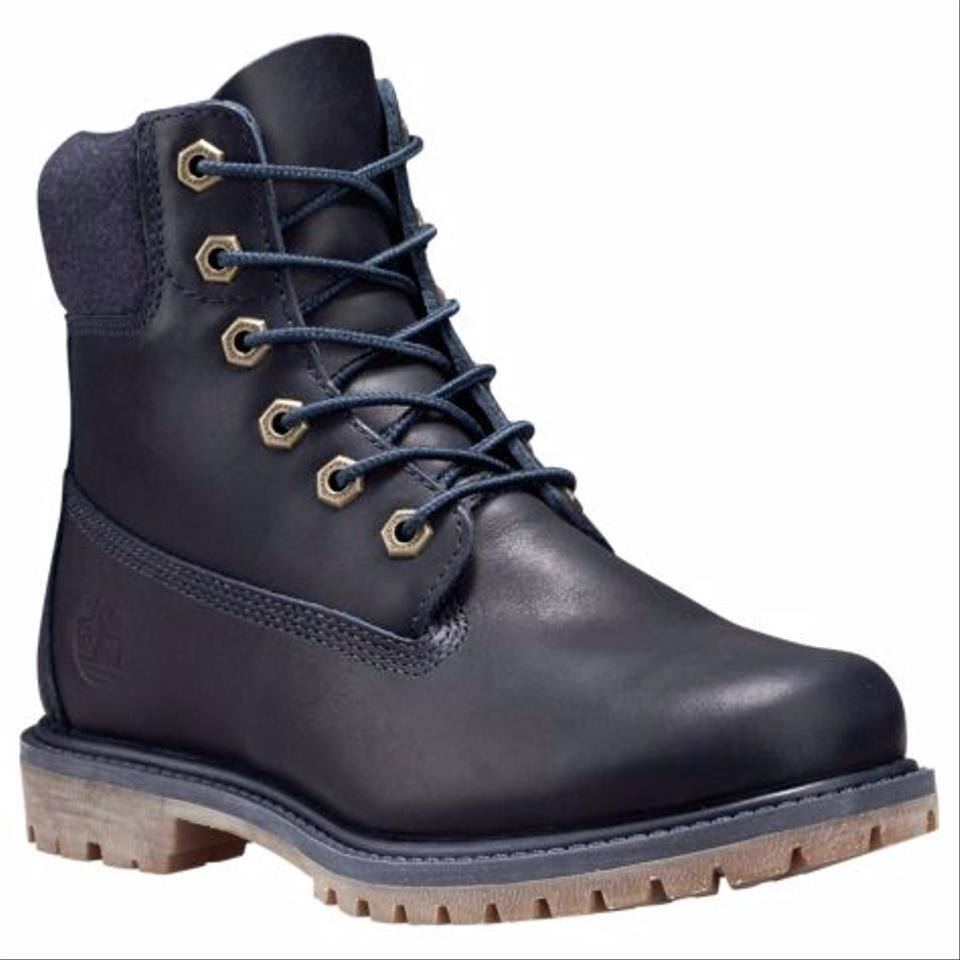 156ffca5894a Timberland Navy Leather Women s 6-inch Premium Waterproof Boots ...