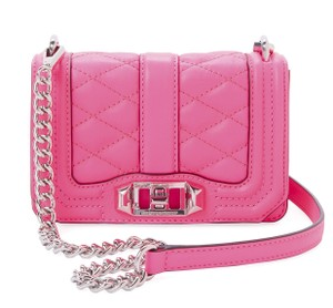 Rebecca Minkoff Electric Quilted Leather Mini Love Cross Body Bag