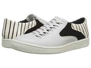 Thakoon Addition Calfskin Sneakers Athleisure Comfy Leather Off-White Matt Calf Stripe Athletic