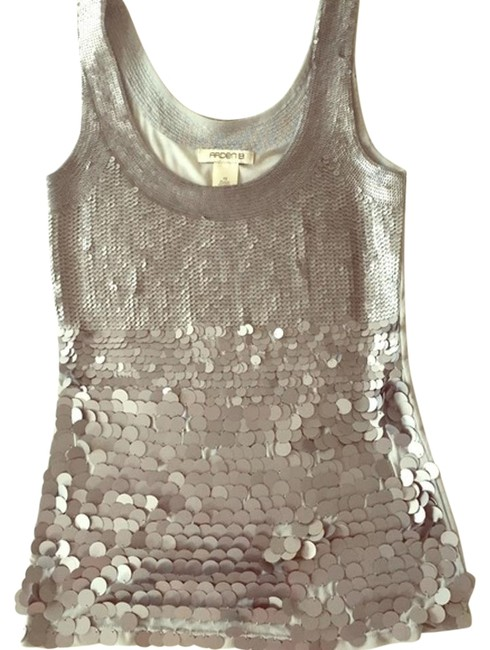 Preload https://item3.tradesy.com/images/arden-b-silver-sequin-blouse-size-2-xs-2052042-0-2.jpg?width=400&height=650