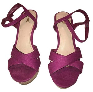 Fioni women shoes red Wedges